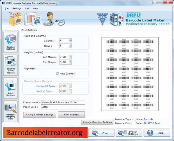 Medical Barcode Creator