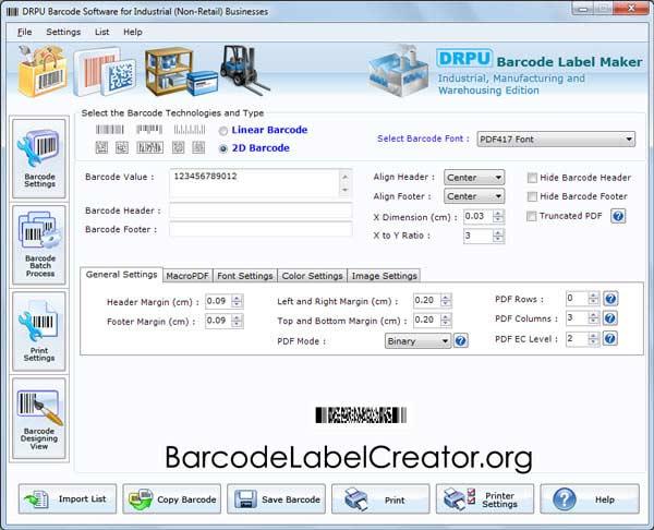 Windows 7 Warehousing Barcode Labels Maker 7.3.0.1 full