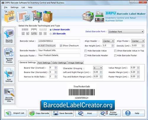 Retail Inventory Barcode Creator